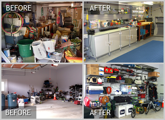 Before and After Professional Garage Organization Using the 5S Japanese Organization Method