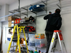 A garage storage shelving Installation by the organization experts at Chaos Commandos