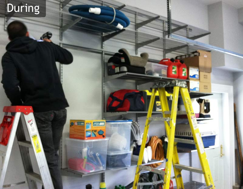Nyc Home Organizer Installing Shelves In A Home Garage