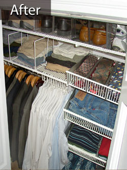 Before and After pictures of a Closet Organizer service