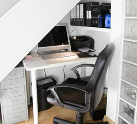 Our Office Organizer Converted this Unused Space into a Small Home Office for Managing Family Finances