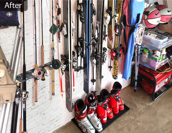 ... Our Professional Garage Organizers Not Only Designated An Area That Was  For The Gear, But