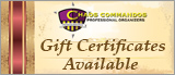 Gift Certificates for Professional Organizing Services